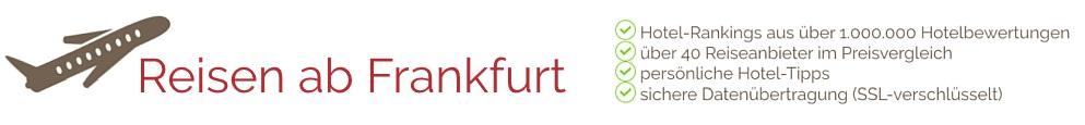 Reisen ab Flughafen Frankfurt (FRA - Frankfurt Airport) nach Mallorca, Ibiza, Gran Canaria, Kreta und vieles mehr.
