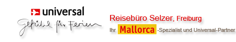 Willkommen auf universal-ferien.de dem Webauftriif für Mallorca-Urlaub von Reisebüro Selzer aus Freiburg. Mallorca ist eine traumhafte Insel und wartet mit tollen Hotels von Universal auf Sie.