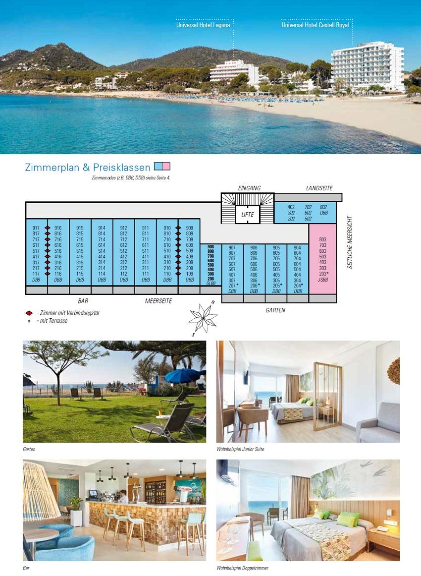 Hotel Castell Royal Bilder & Zimmerplan