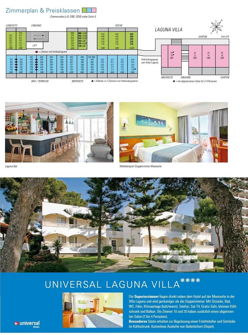 Hotel Laguna Bilder & Zimmerplan