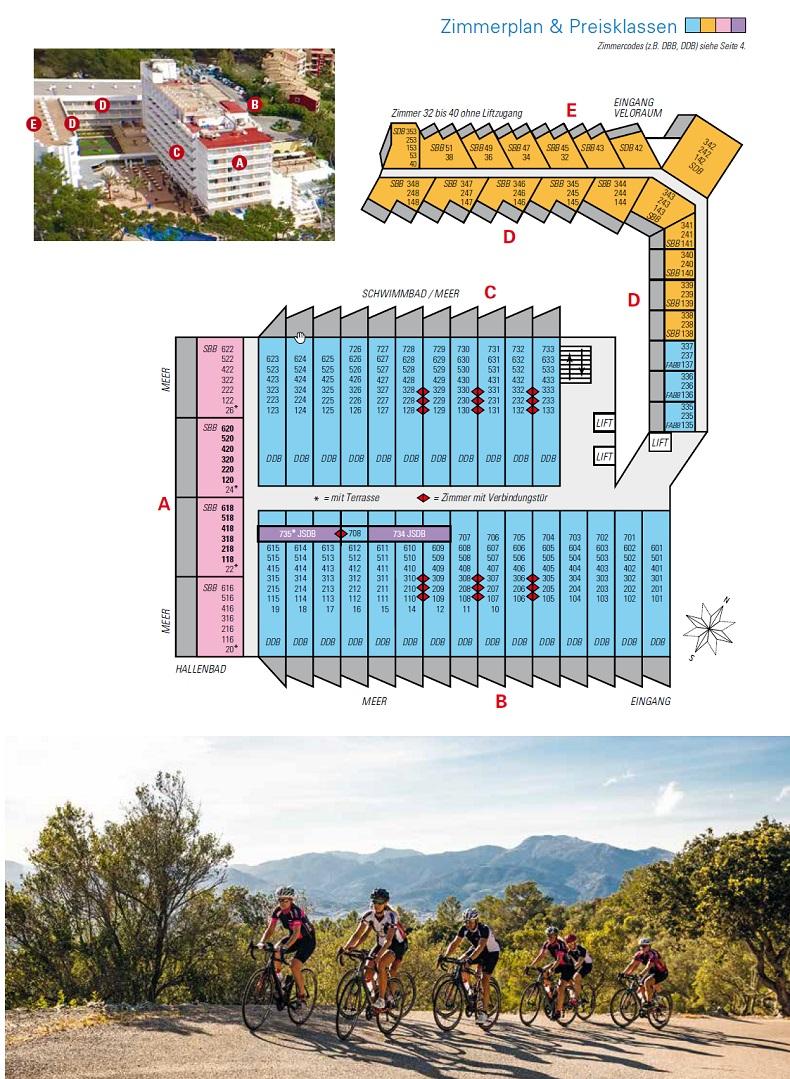 Hotel Lido Park Zimmerplan