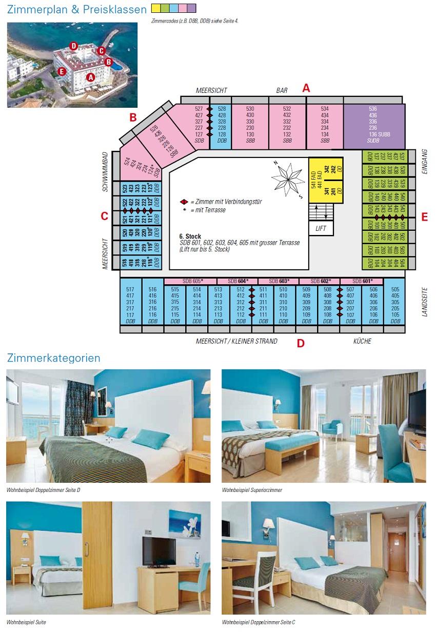Hotel Marques Zimmerplan