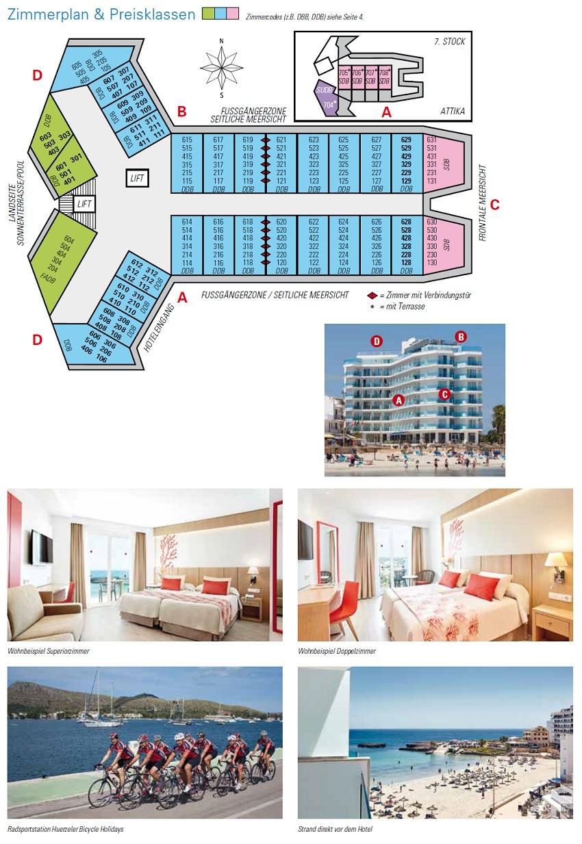 Hotel Perla Bilder & Zimmerplan